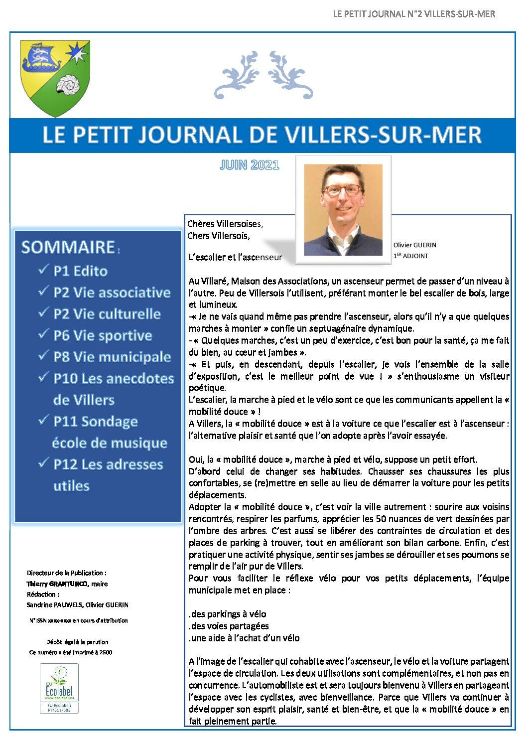 Le Petit Journal de Villers du mois de juin