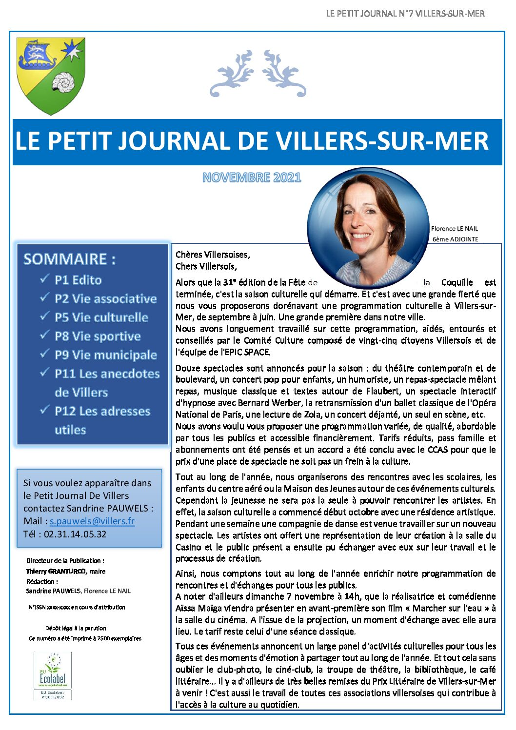 Le Petit Journal de Villers n°7 du Mois de Novembre